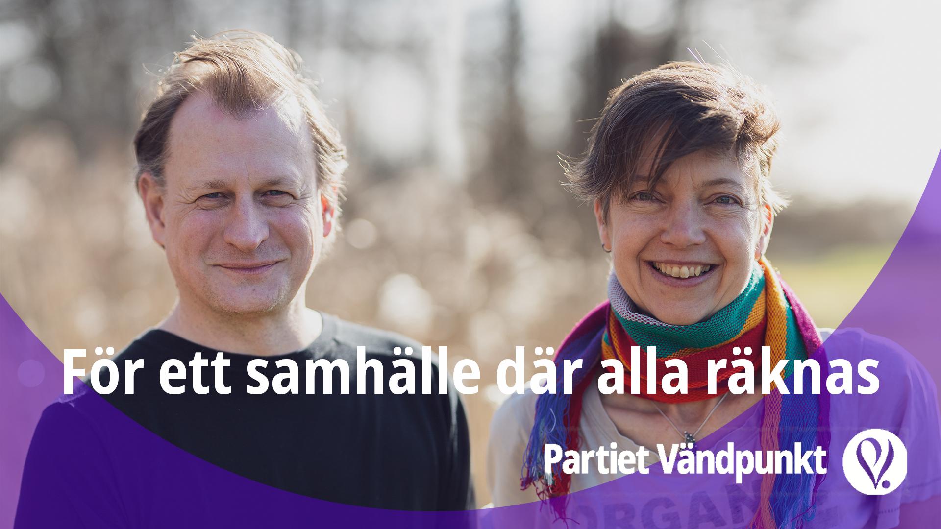 Carl Schlyter, talesperson och Ellie Cijvat, huvudsekreterare. Foto: Hannah Svanteman