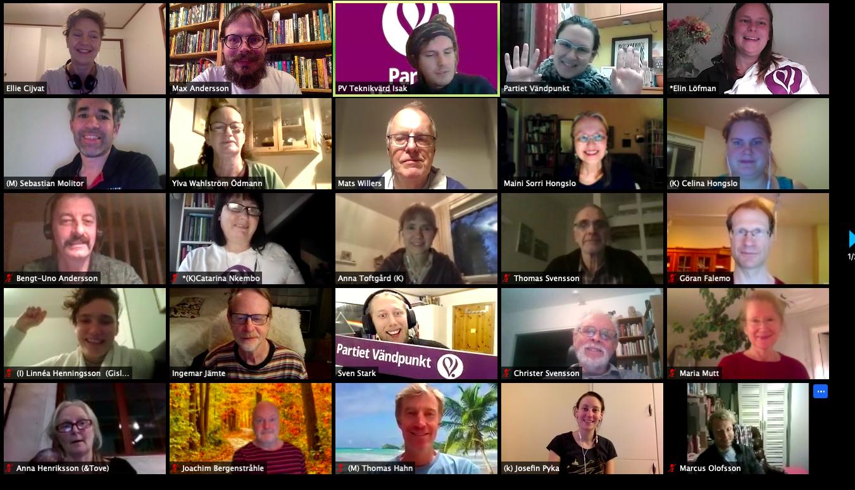 Några av deltagarna på den digitala kongressen nov 2020.