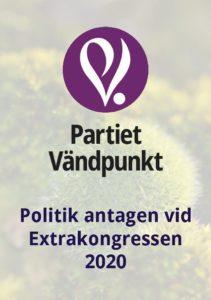 Folder med urval av antagen politik 2020